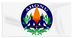 Logo Of Ahonu.com Beach Towel