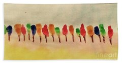 Lollipop Trees Beach Sheet by Kim Nelson
