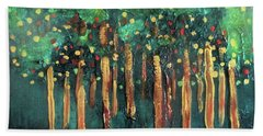 Beach Towel featuring the painting Lollipop Trees by Valerie Anne Kelly