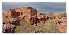 Lomaki Pueblo Ruins Beach Towel