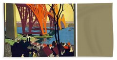 London And North Eastern Railway - Retro Travel Poster - Vintage Poster Beach Towel