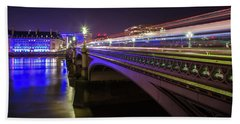 London At Night  Beach Towel by Mariusz Czajkowski