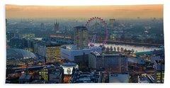 London At Sunset Beach Sheet