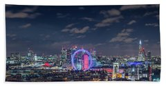 Beach Towel featuring the photograph London By Night by Stewart Marsden