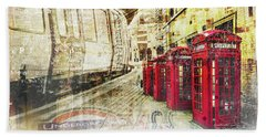 London Calling  Beach Towel