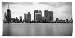 London Docklands Beach Towel by Martin Newman