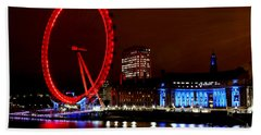 London Eye Beach Towel by Heather Applegate