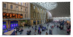 Beach Sheet featuring the photograph London King's Cross by Yhun Suarez