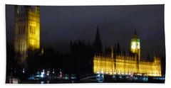 Beach Sheet featuring the photograph London Late Night by Christin Brodie