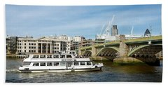 London River View Beach Towel