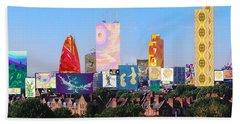 London Skyline Collage 1 Beach Towel