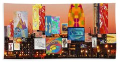 London Skyline Collage 2 Beach Towel