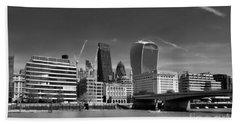Beach Sheet featuring the photograph London Skyline by Lynn Bolt