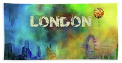 London - Skyline Beach Towel