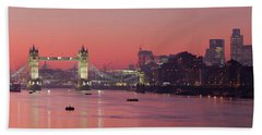 London Thames Beach Sheet by Thomas M Pikolin