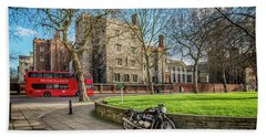 Beach Towel featuring the photograph London Transport by Adrian Evans