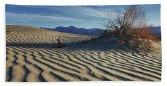 Lone Bush Death Valley Hdr Beach Towel by James Hammond