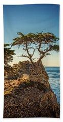 Lone Cypress Tree Beach Towel by James Hammond