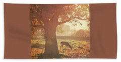 Beach Towel featuring the photograph Lone Deer by Lyn Randle
