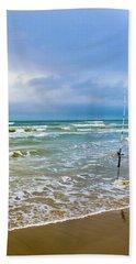 Lone Fishing Pole Beach Towel