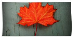 Lone Leaf Beach Towel