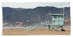 Lone Lifeguard Tower Beach Sheet
