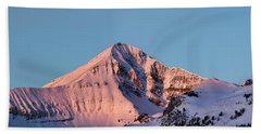 Lone Mountain Alpenglow Panoroama Beach Sheet