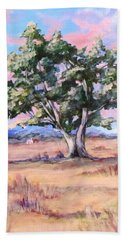 Lone Oak Beach Towel