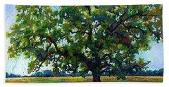 Beach Sheet featuring the painting Lone Oak by Hailey E Herrera
