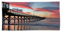 Lone Pier Beach Towel