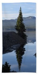 Lone Pine Reflection Chambers Lake Hwy 14 Co Beach Towel