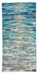 Beach Towel featuring the painting Lone Star by Linda Olsen