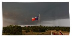 Lone Star Supercell Beach Towel by Ed Sweeney
