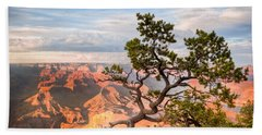 Beach Towel featuring the photograph Lone Tree Over Grand Canyon  by Rikk Flohr