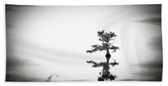Beach Towel featuring the photograph Loneliness by Eduard Moldoveanu