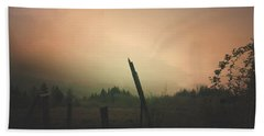 Beach Towel featuring the digital art Lonely Fence Post  by Chriss Pagani