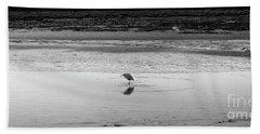 Lonely Heron Beach Towel