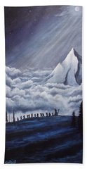 Lonely Mountain Beach Towel