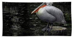 Lonely Pelican Beach Towel