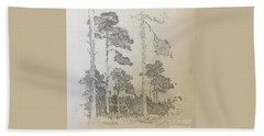 Lonely Pines Beach Towel