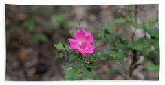 Lonely Pink Flower Beach Sheet