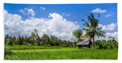 Lonely Rice Hut Beach Sheet