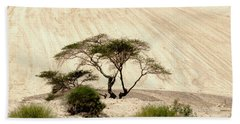 Lonely Tree Beach Sheet by Arik Baltinester