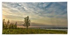 Lonely Tree In Dintelse Gorzen Beach Sheet