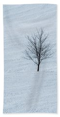 Lonely Tree Beach Towel by Tom Singleton