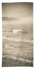 Lonely Winter Waves Beach Towel