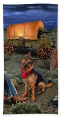 Lonesome Cowboy Beach Towel