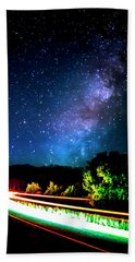 Beach Towel featuring the photograph Lonesome Texas Highway by David Morefield