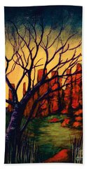 Lonesome Tree  Beach Towel
