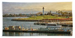 Long Beach - Rainbow Harbor Lighthouse Beach Towel